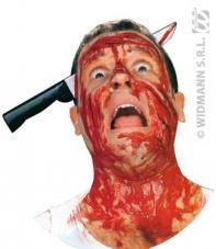 couteau trans-crâne ensanglanté