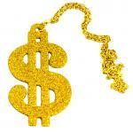 Déguisements Collier Dollar Doré