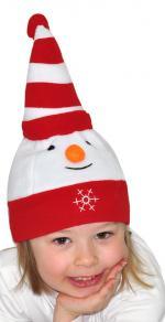 Déguisements Bonnet bébé en polaire bonhomme de neige