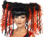 Déguisements Perruque gothique noir et rouge