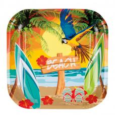 assiettes hawaienne jetables