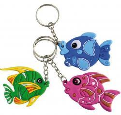 12 porte clés poissons tropicaux pas cher