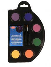 palette 6 fards aqua fluo