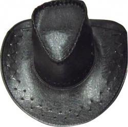 Chapeau Cowboy Croco Noir pas cher