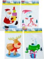 Déguisements Décoration Vitre de Noël Multicolore