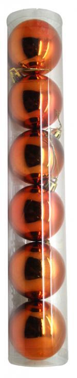 Déguisements Boite de 6 boules de Noël Cuivre