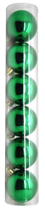 Déguisements Boite de 6 boules de Noël Verte