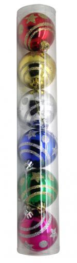 Déguisements Boite de 6 boules de Noël décorées