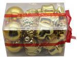 Déguisements Coffret de 20 décorations de Noël Or