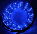 Décoration tube lumineux bleu