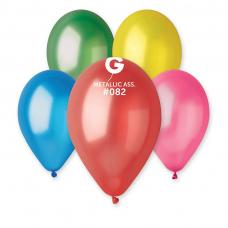 ballons latex metallises multicolores