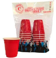 gobelets shooters rouges