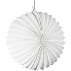 Lampion rond blanc 22cm pas cher