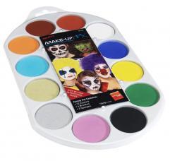 palette peinture corps et visage