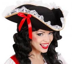 Tricorne Pirate Dame pas cher