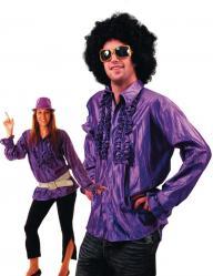 Chemise Disco Violette pas cher
