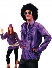 chemise disco violette