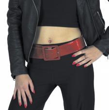 ceinture disco rouge