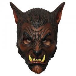 masque loup garou marron en latex pas cher
