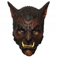 Masque loup garou marron en latex