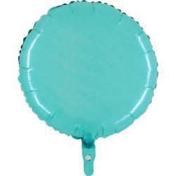 Ballon mylar rond turquoise pas cher