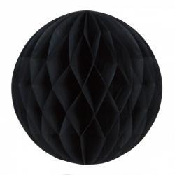 Boule papier alvéolée noire pas cher