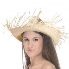 chapeau caraïbes en feuilles de palmier