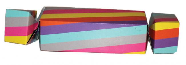 cotillons papillote individuelle multicolore