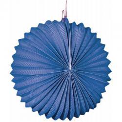 Lampion rond bleu 22 cm pas cher