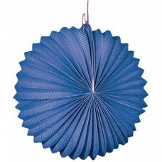 lampion rond bleu 22 cm