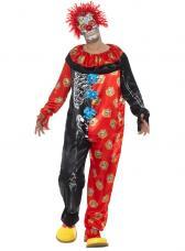 costume clown dia de los muertos