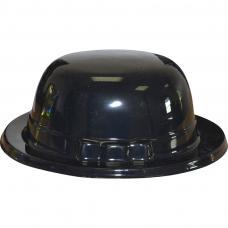 chapeau melon noir en plastique