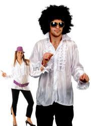 Chemise Disco Blanche pas cher