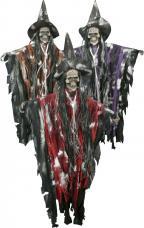 Suspension sorciere squelette tissu