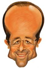 Masque Caricature François Hollande