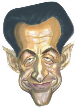 Masque Caricature Nicolas Sarkozy