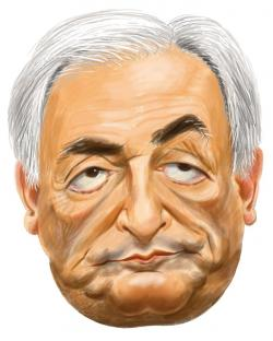 Masque Caricature Dominique Strauss-Kahn