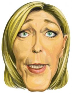 Masque Caricature Marine Le Pen