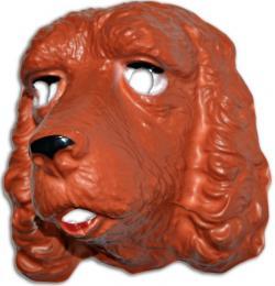 Masque chien Epagneul en plastique