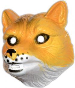 Masque renard en plastique