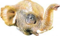 Masque Eléphant en Latex