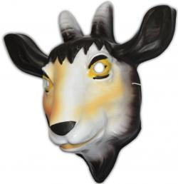 Masque chèvre en plastique
