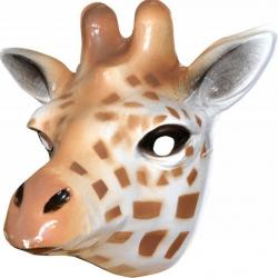Masque girafe en plastique
