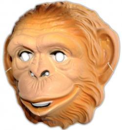 Masque singe en plastique