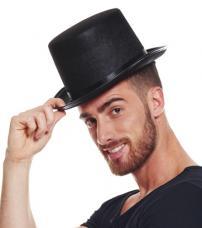 chapeau haut de forme adulte noir