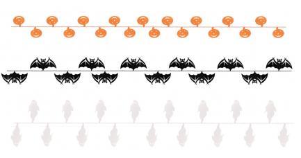 bannière halloween personnage carton