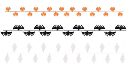 guirlande halloween fil assortis