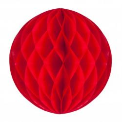 Boule papier alvéolée rouge pas cher