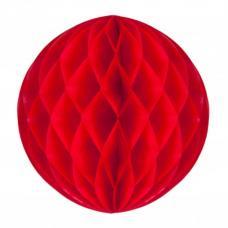 boule papier alveolee rouge