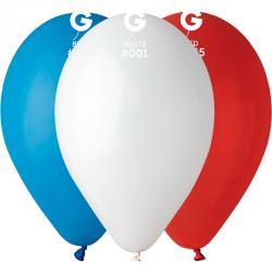 Sachet de 100 ballons de baudruche tricolores